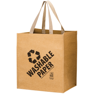 Typhoon - Washable Kraft Paper Grocery Tote Bag